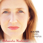 Album cover for Mayer: Violin Sonatas